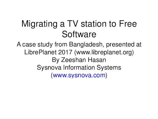 Migrating a TV station to free software