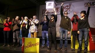Acte final de campanya de la CUP abans de les eleccions del 21D
