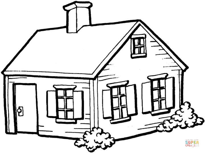 Dibujos De La Casa Para Colorear Imagesacolorierwebsite