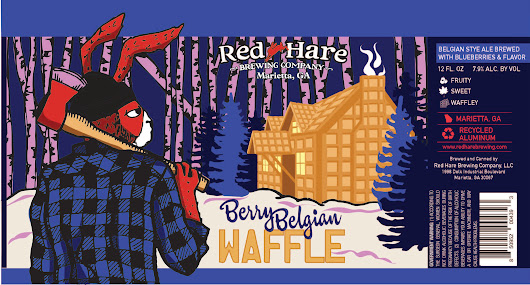 Red Hare Berry Belgian Waffle, a waffle flavored beer - Beer Street Journal