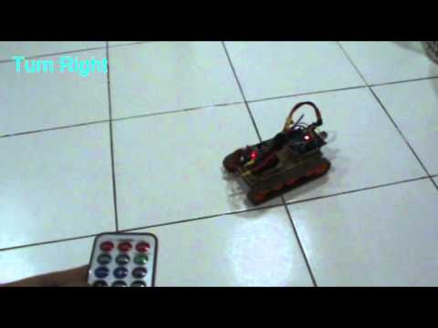 Arduino Tracked Robot-IR Remote control