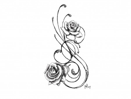 Free Black And White Flower Tattoos Download Free Clip Art Free