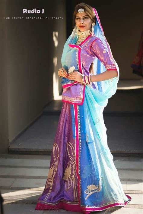 Rajputi poshak#lengha#style   Studio J   Rajasthani dress