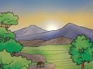 Catatanku Anak Desa Mewarnai Gambar Matahari Terbit