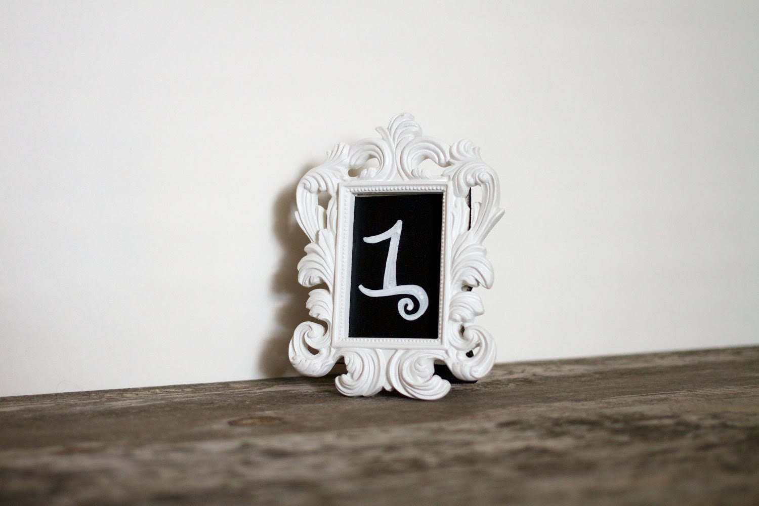 1 Blank Mini Baroque Wedding Table Number White Fancy Picture Frames Ornate Vintage Reception Frame Centerpiece Ideas Chalkboard Vinyl PBK