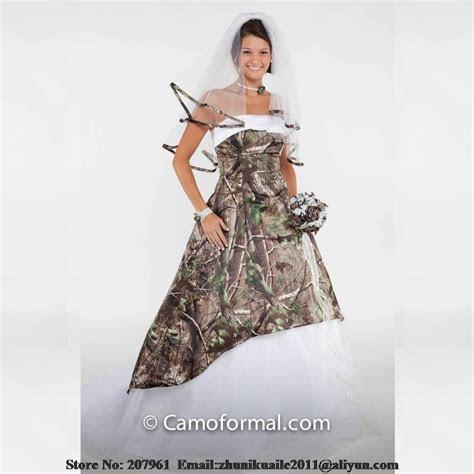 White Camo Wedding Dress