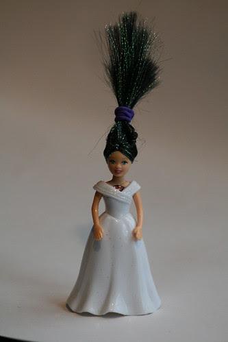 Polly Pocket borrows Cinderella's dress