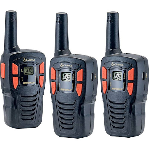 Cobra MicroTalk CXT145 16-mile Two-way Radio 3 Pack - FRS/GMRS - 462.56-467.71 MHz - 10 NOAA Channels