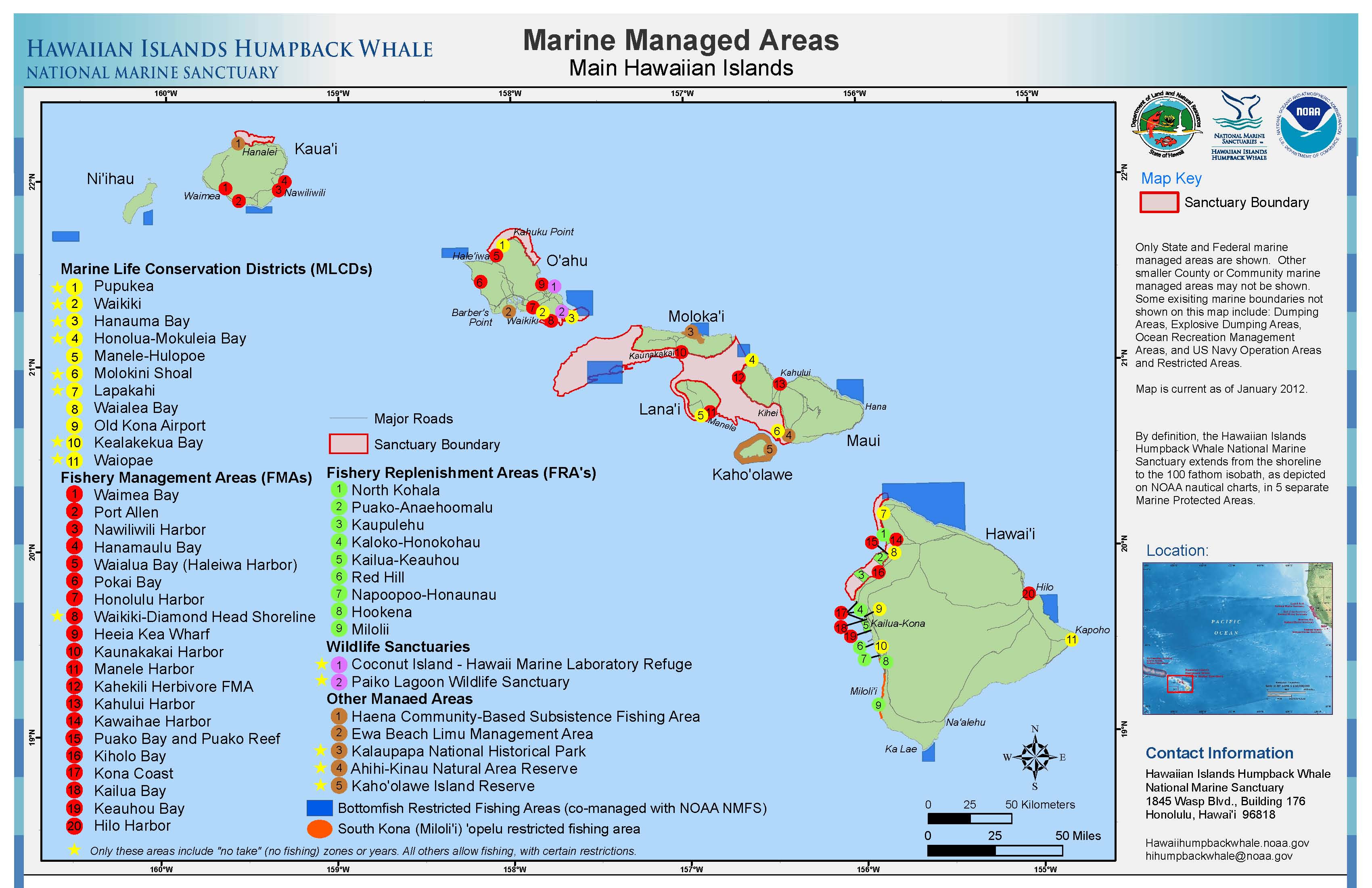 Hawaiian Islands Humpback Whale Library Maps Charts