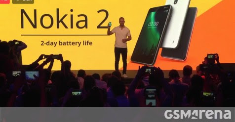 Nokia 2 announced with 5-inch display, 4,100mAh battery