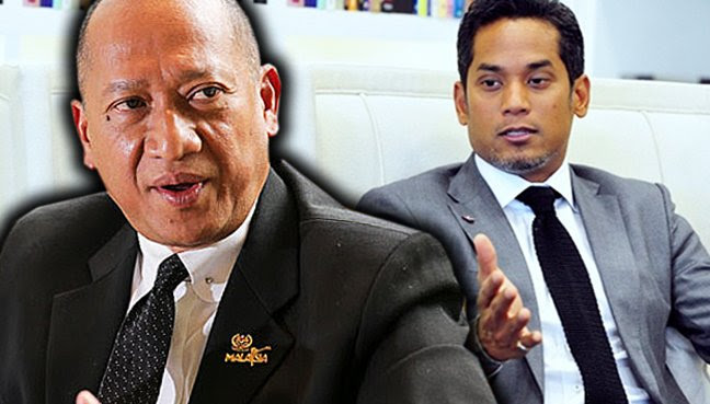 Image result for khairy and nazri aziz