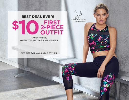 Fabletics by Kate Hudson | First Outfit $10