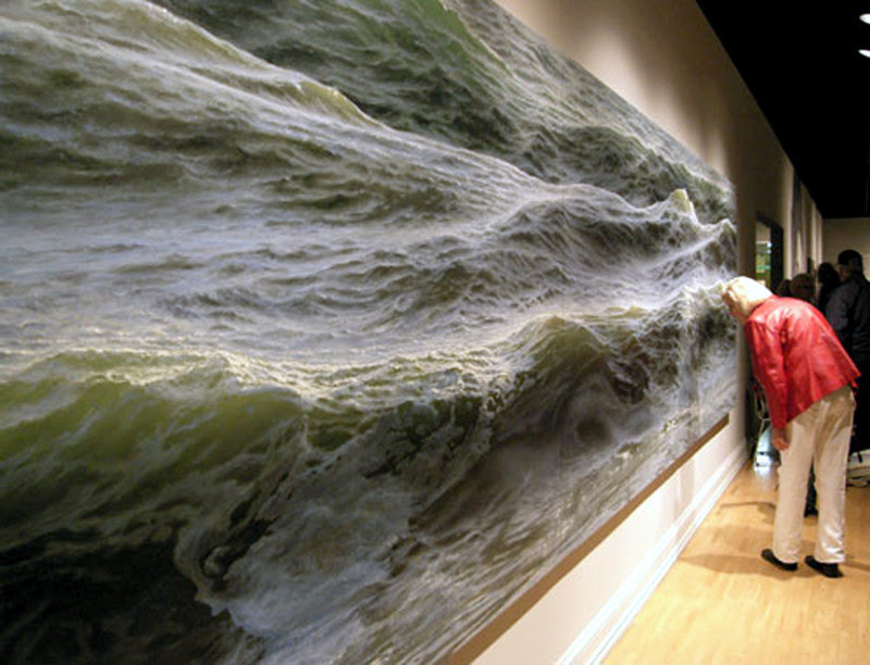 "16. ""Open Water"" - a picture Ran Ortner, oil on canvas.  unusual, amazing photos,"