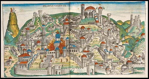Destruccio Herosolime (Destruction of Jerusalem) - Hartmann Schedel's Liber Chronicarum (p. 200)