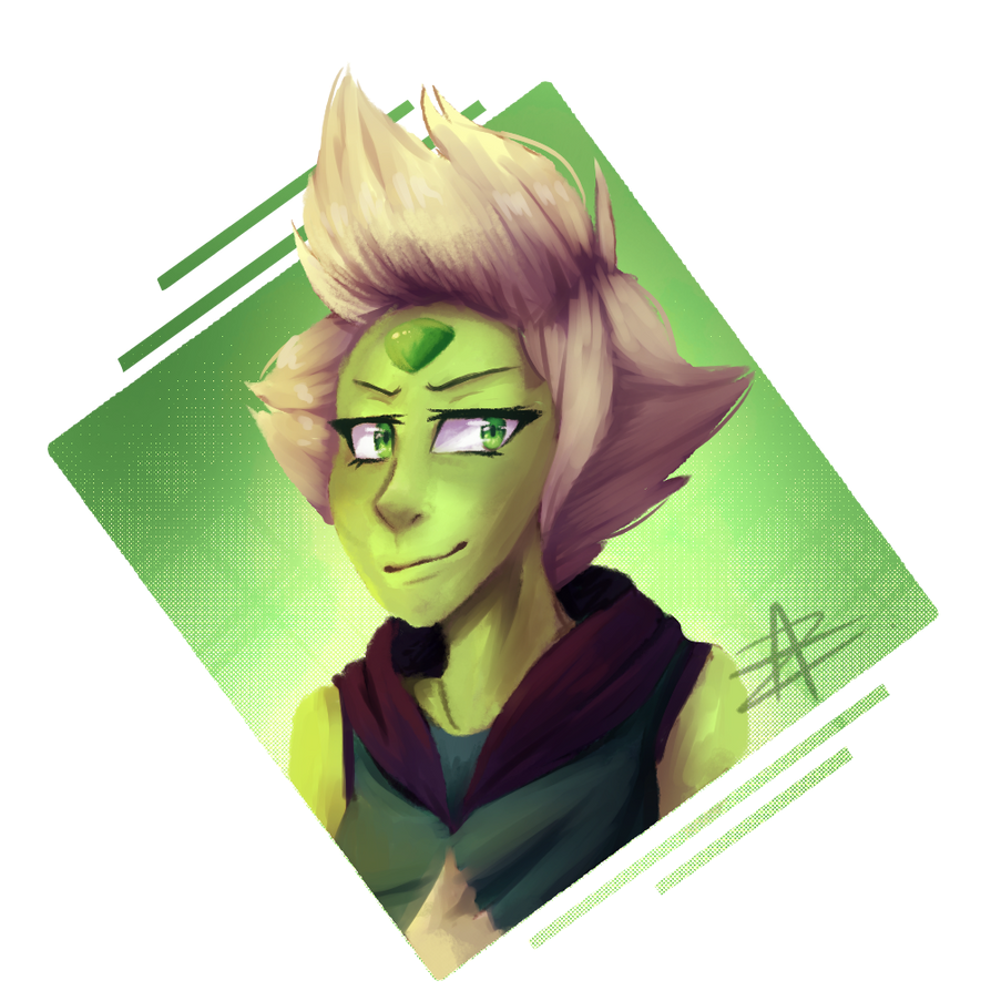 """""""finally something other than ponies."""" :V you are welcome lol Peridot - Steven Universe"""