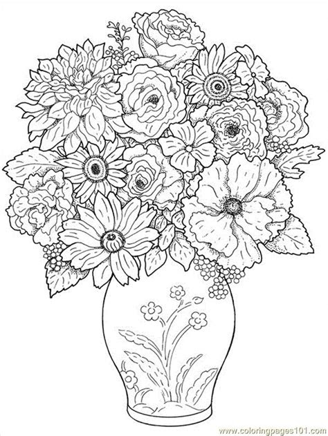 printable coloring image flower coloring pages
