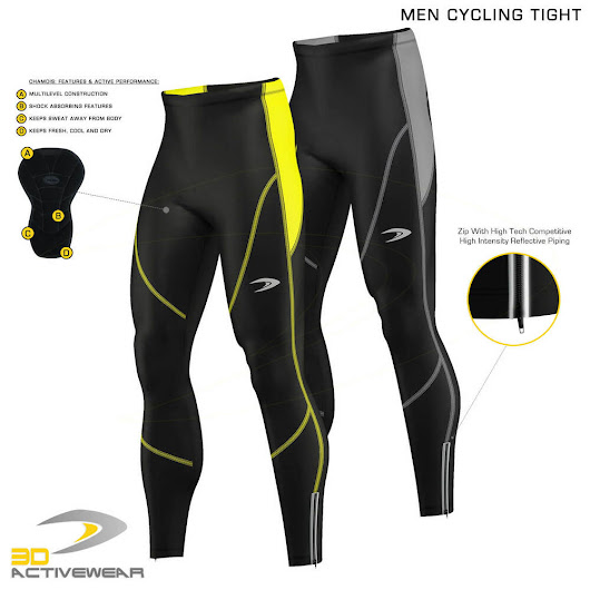 Details about  Mens Padded Cycling Tights Bike Compression Trousers Bicycle Long Pants Leggings