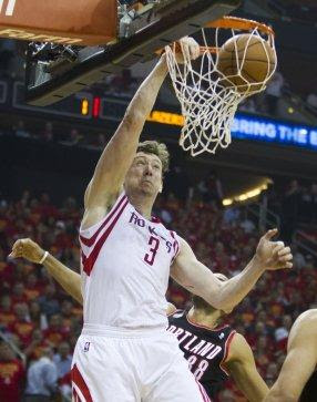 <center><b>Omer Asik, center</center></b>  <b>2014-15 contract: </b>$8,374,646, guaranteed  <b>Comment: </b>Asik began the season wanting out, let his frustrations boil over when he was removed from the starting lineup and struggled early in the season. But he was outstanding when he returned from a stubborn injury, especially late in the season when Dwight Howard was out and in playoffs.  <b>Grade:</b> B