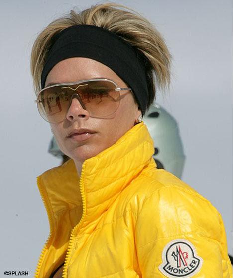 victoria beckham skiing clothes