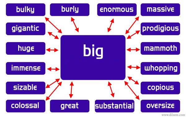 Synonym Words - Big | Vocabulary Home