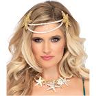 Leg Avenue Mermaid Pearl Starfish Headband