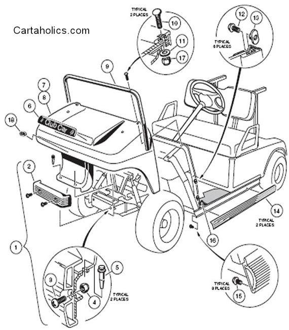 Club Car D Golf Cart Wiring Diagram