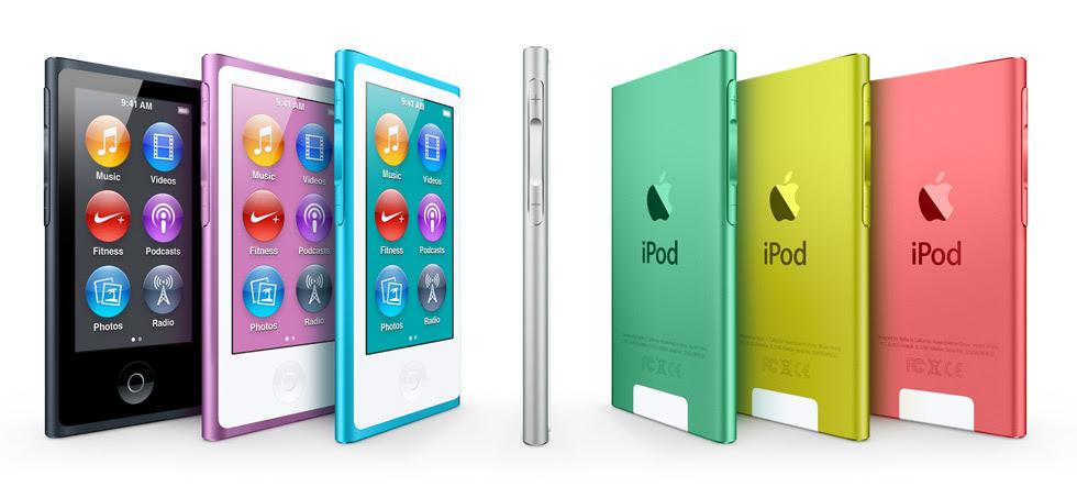 iPod nano tem novo visual e cores (Foto: Divulgação)