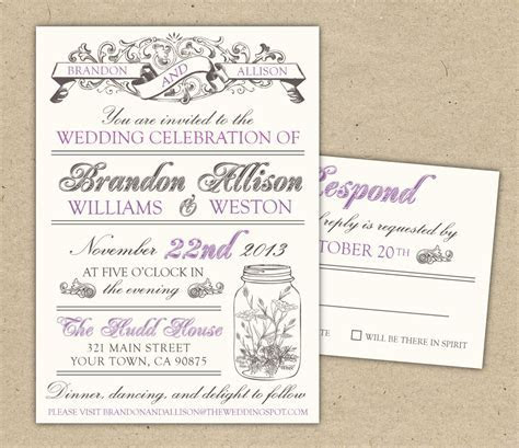 Free Printable Wedding Invitation Templates   e