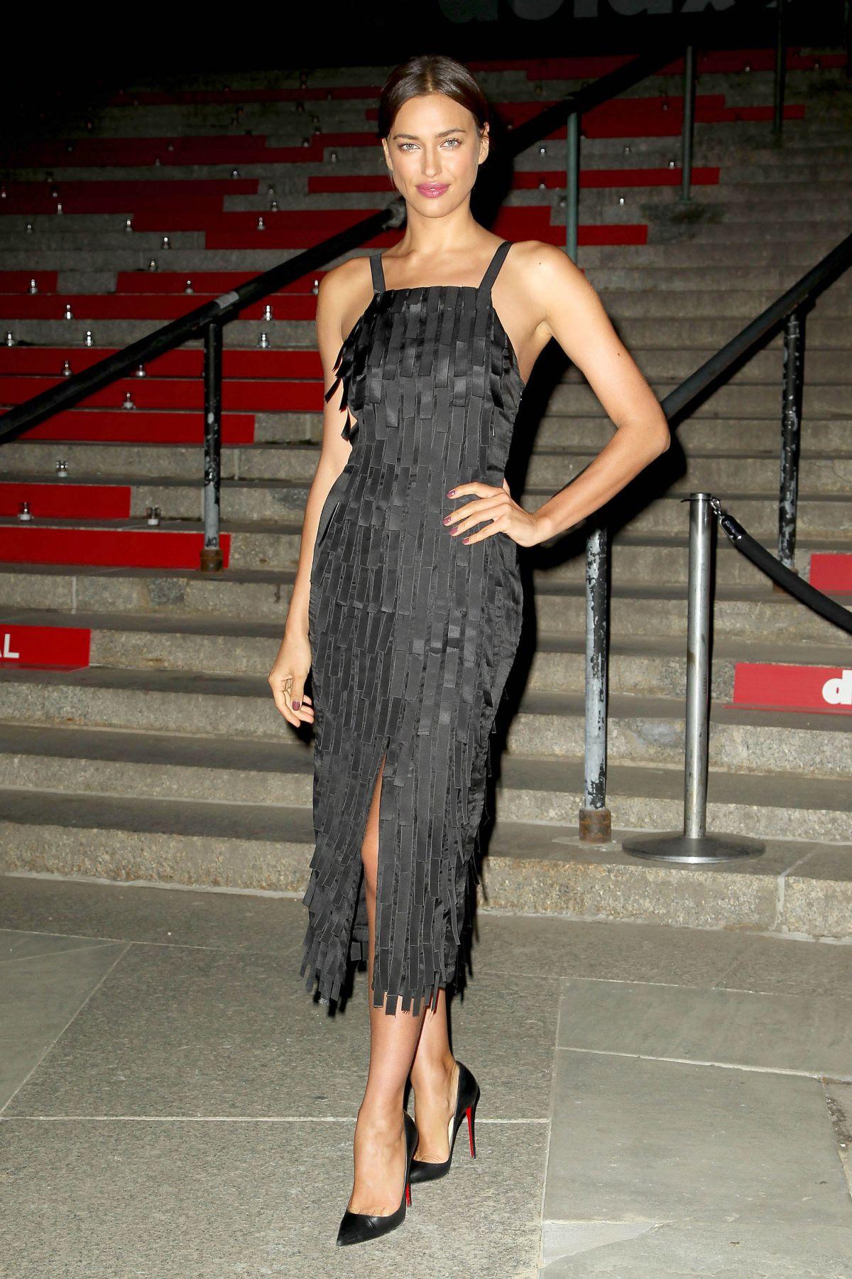 IRINA SHAYK at 2015 Vanity Fair Party in New York