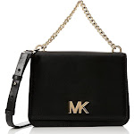Michael Kors 30S8SOXL7L Mott Large Black Leather Cross Body Bag 8.5 Inch Length x 3 Inch Width x 6.5 Inch Hight, Black