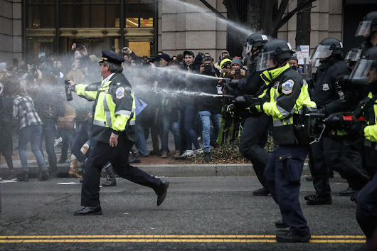 Arrests, pepper spray use during inauguration protests panned