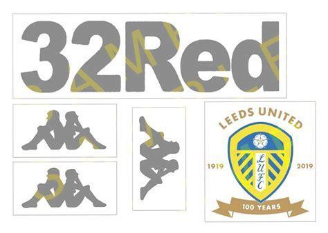 Leeds United FC shirt logos cake topper