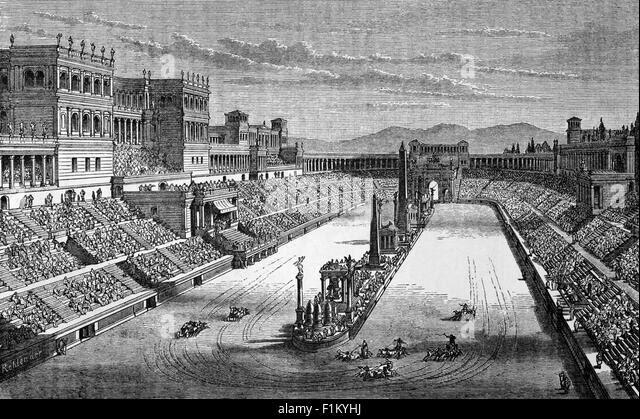 http://n7.alamy.com/zooms/1cf411e1760f447ea13580ebbd3b6eab/roman-chariot-racing-in-the-circusrome-italy-f1kyhj.jpg