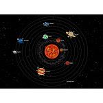 Solar System, Galaxy, Universe, Cosmos Astronomy Chart, Educational Credenza by MYSUNLIFE - Gold - Birch