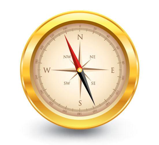Create a Golden, Vector Compass