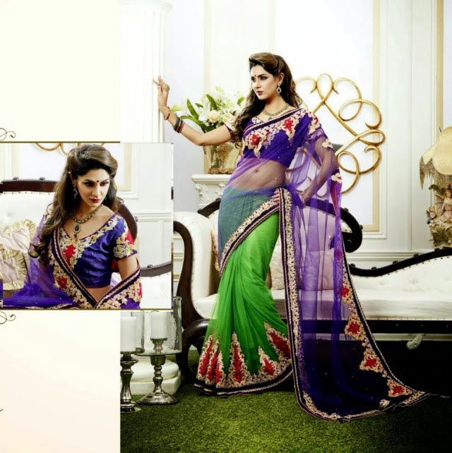 Bridal-Wedding-Rich-Heavy-Embroidered-Sarees-Designs-Lehanga-Style-Fancy-Sari-New-Fashion-2