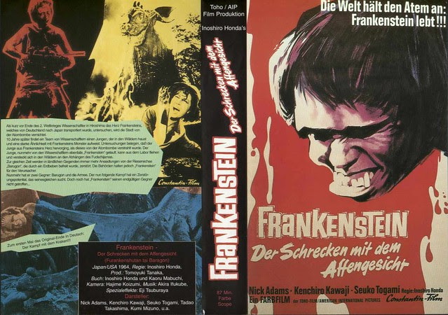 Frankenstein Vs Baragon (VHS Box Art)