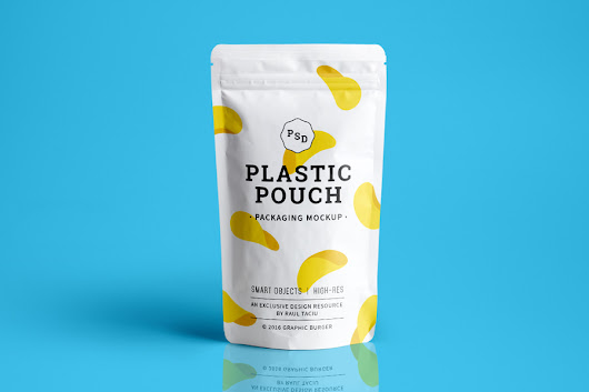 Plastic Pouch Packaging Mockup - Graphic Ghost