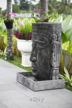 Satu Bumi Large Outdoor Khmer Buddha Stone Water Fountain Feature Garden Statue