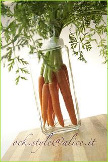 Veg - Carrots Bouquet in a Glass Jar