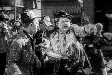 Second reel of Laurel and Hardy's The Battle of the Century recovered: that's better than a pie in the face