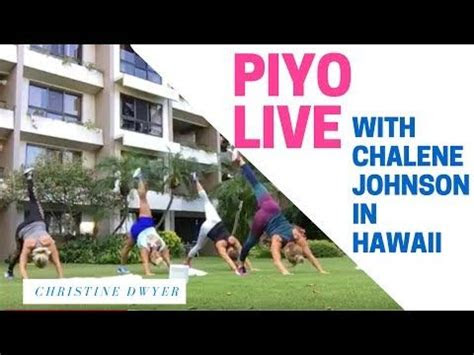 piyo workout   chalene johnson  hawaii