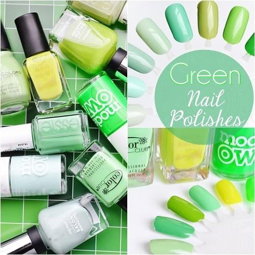 Green_nail_polishes