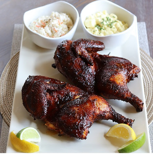 SmokinTex - BBQ Electric Smokers - Smoked Chicken Halfs by Tommy Schroers Recipe