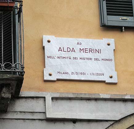 Targa ad Alda Merini