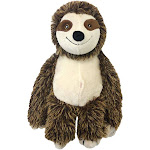 Multipet 37410 Bark Buddy Sloth Plush Dog Toy, 10 Inch