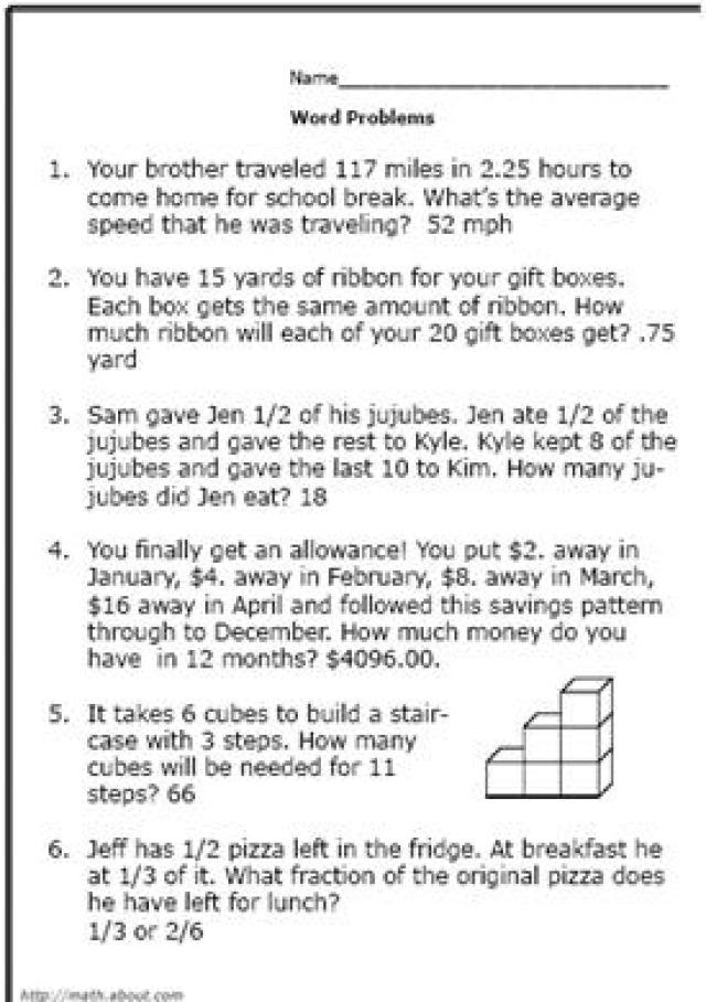16 Best Images Of Percent Word Problems Worksheets 5th Grade Math Word  Problems Worksheets