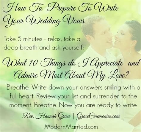 Marriage Vows That Speak from the Heart ? An interview