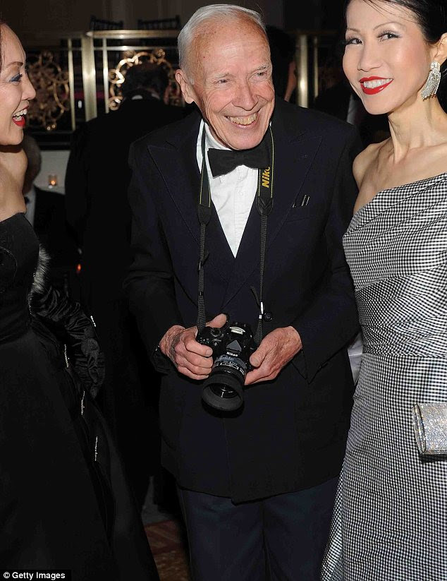 Convidado de honra: Fotógrafo Bill Cunningham foi homenageado no evento de moda esta noite