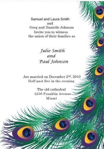 Peacock Feather Printable Invitation kit Includes